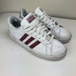Adidas Superstar Sneakers Maroon Stripes 7